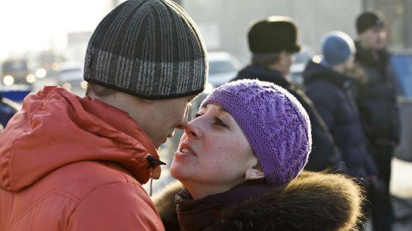 поцелуй в общественном месте